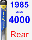 Rear Wiper Blade for 1985 Audi 4000 - Hybrid