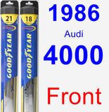 Front Wiper Blade Pack for 1986 Audi 4000 - Hybrid