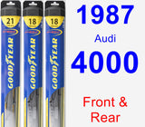 Front & Rear Wiper Blade Pack for 1987 Audi 4000 - Hybrid