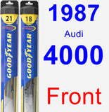 Front Wiper Blade Pack for 1987 Audi 4000 - Hybrid