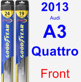 Front Wiper Blade Pack for 2013 Audi A3 Quattro - Hybrid