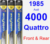 Front & Rear Wiper Blade Pack for 1985 Audi 4000 Quattro - Hybrid