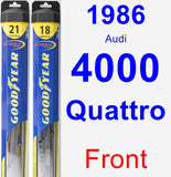Front Wiper Blade Pack for 1986 Audi 4000 Quattro - Hybrid