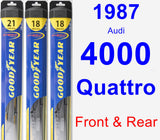 Front & Rear Wiper Blade Pack for 1987 Audi 4000 Quattro - Hybrid
