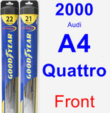 Front Wiper Blade Pack for 2000 Audi A4 Quattro - Hybrid