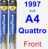 Front Wiper Blade Pack for 1997 Audi A4 Quattro - Hybrid