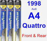 Front & Rear Wiper Blade Pack for 1998 Audi A4 Quattro - Hybrid