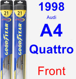 Front Wiper Blade Pack for 1998 Audi A4 Quattro - Hybrid