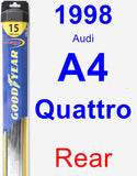 Rear Wiper Blade for 1998 Audi A4 Quattro - Hybrid