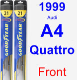 Front Wiper Blade Pack for 1999 Audi A4 Quattro - Hybrid