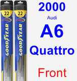 Front Wiper Blade Pack for 2000 Audi A6 Quattro - Hybrid