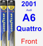 Front Wiper Blade Pack for 2001 Audi A6 Quattro - Hybrid