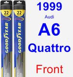 Front Wiper Blade Pack for 1999 Audi A6 Quattro - Hybrid