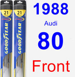 Front Wiper Blade Pack for 1988 Audi 80 - Hybrid