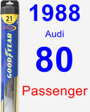 Passenger Wiper Blade for 1988 Audi 80 - Hybrid