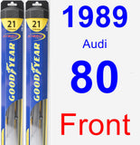 Front Wiper Blade Pack for 1989 Audi 80 - Hybrid