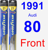 Front Wiper Blade Pack for 1991 Audi 80 - Hybrid