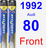 Front Wiper Blade Pack for 1992 Audi 80 - Hybrid