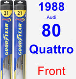 Front Wiper Blade Pack for 1988 Audi 80 Quattro - Hybrid