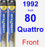 Front Wiper Blade Pack for 1992 Audi 80 Quattro - Hybrid