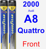 Front Wiper Blade Pack for 2000 Audi A8 Quattro - Hybrid