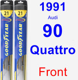 Front Wiper Blade Pack for 1991 Audi 90 Quattro - Hybrid