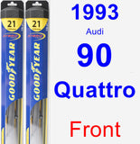 Front Wiper Blade Pack for 1993 Audi 90 Quattro - Hybrid