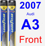 Front Wiper Blade Pack for 2007 Audi A3 - Hybrid