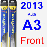 Front Wiper Blade Pack for 2013 Audi A3 - Hybrid