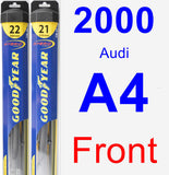 Front Wiper Blade Pack for 2000 Audi A4 - Hybrid