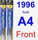 Front Wiper Blade Pack for 1996 Audi A4 - Hybrid