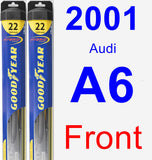 Front Wiper Blade Pack for 2001 Audi A6 - Hybrid
