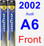 Front Wiper Blade Pack for 2002 Audi A6 - Hybrid