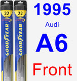 Front Wiper Blade Pack for 1995 Audi A6 - Hybrid