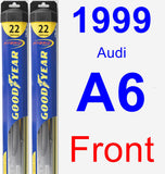 Front Wiper Blade Pack for 1999 Audi A6 - Hybrid