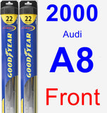 Front Wiper Blade Pack for 2000 Audi A8 - Hybrid