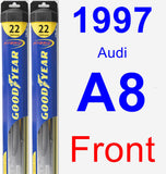Front Wiper Blade Pack for 1997 Audi A8 - Hybrid