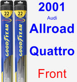 Front Wiper Blade Pack for 2001 Audi Allroad Quattro - Hybrid