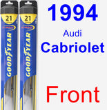 Front Wiper Blade Pack for 1994 Audi Cabriolet - Hybrid