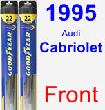 Front Wiper Blade Pack for 1995 Audi Cabriolet - Hybrid