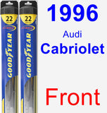 Front Wiper Blade Pack for 1996 Audi Cabriolet - Hybrid