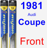 Front Wiper Blade Pack for 1981 Audi Coupe - Hybrid