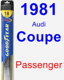 Passenger Wiper Blade for 1981 Audi Coupe - Hybrid
