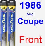Front Wiper Blade Pack for 1986 Audi Coupe - Hybrid