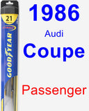 Passenger Wiper Blade for 1986 Audi Coupe - Hybrid