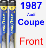 Front Wiper Blade Pack for 1987 Audi Coupe - Hybrid