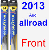 Front Wiper Blade Pack for 2013 Audi allroad - Hybrid