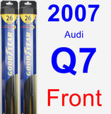 Front Wiper Blade Pack for 2007 Audi Q7 - Hybrid