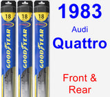 Front & Rear Wiper Blade Pack for 1983 Audi Quattro - Hybrid