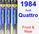 Front & Rear Wiper Blade Pack for 1984 Audi Quattro - Hybrid